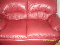 2 & 3 seat leather sofa's