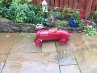 Racing car reproduction vintage as new