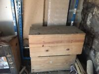 2 sturdy wooden boxes