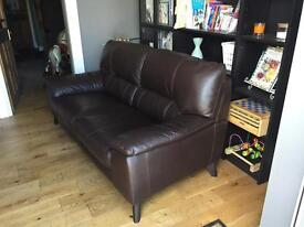 2 seater trident leather sofa