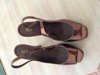 Kurt Keiger Ladies Bronze Shoes Size 40 Worn once