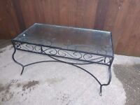 Glass Coffee Table Top with Metal Frame Delivery Available