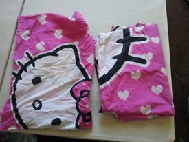 Hello Kitty Curtains, Single Duvet cover and pillow Cover