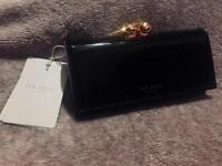 Ted Baker Purse Black & Rose Gold with Bow Interior