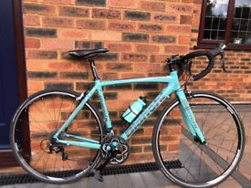Bianchi Nirone 7 105 Compact Celeste Road Bike C2C 53cm Frame October 2015 Excellent Condition