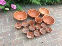 Joblot of terracotta pots
