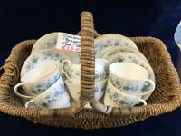 Vintage Braganza Teaset in Blue and White