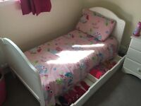 For sale - Children's bedroom furniture - cupboard, bed, cot extension & changing table £100
