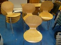 X14 WOODEN STACKABLE CHAIRS / CAFE /DAYROOM/ CANTEEN