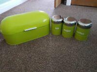 Bread bin and jars