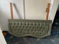 Headboard Green Padded