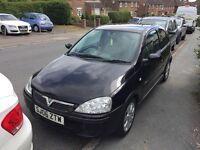 Vauxhall corsa 1.2 twinport Black, Half leather seats