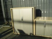 WOODEN ROLLER SHUTTER CABINET FILING CABINET 37.5 INCH X 47 INH 12 AVAILABLE