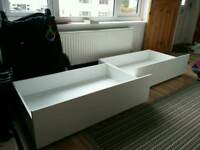 Barely used Ikea malm under bed drawers