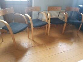 4 matching reception chairs