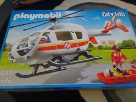 New Playmobil 6686 City Life Emergency Medical Helicopter with Spinning Rotor Blades £20 ideal gift