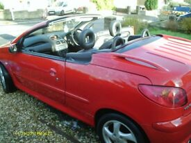 PEUGEOT 206CC CONVERTIBLE 11 MTH MOT LOW MILLAGE GOOD CONDITION