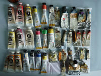 Artists Oil Paints And Brushes
