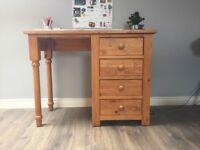 Solid Wood Three Drawer Desk