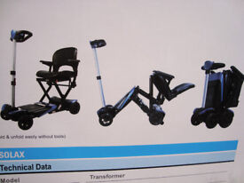 SMARTI AUTOMATIC folding scooter.PORTABLE MOBILITY SCOOTER.SOLAX TRANSFORMER
