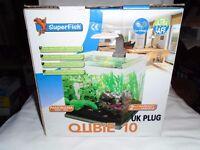 For sale Super fish Qubie 10 (10 litre) fish tank / aquarium