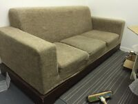 Good condition 3 seater sofa. FREE! Comfortable and no stains, used but is still a nice sofa.