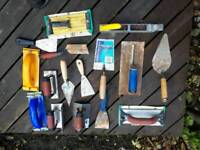 Set of plastering tools