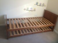 Single pine pull out bed frame