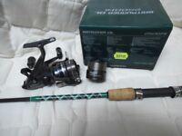 New Custom Built Spinning rod plus Mint 2500 Baitrunner DL