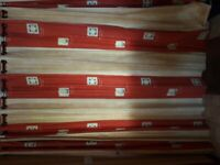 red lined eyelet curtain 225 x 90