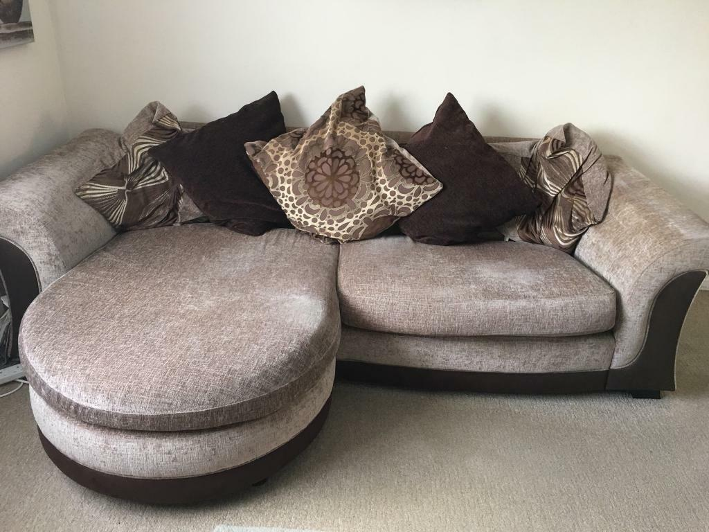 low priced 55d5f ffd81 4 seater sofa/chaise purchased at DFS-Must be gone by Sat 25/5 - collection  only | in Poringland, Norfolk | Gumtree