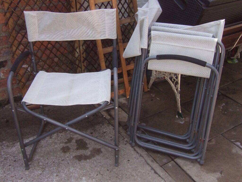 Four fold away garden chairs york