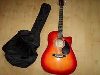 Encore Electro Acoustic Guitar ENC165EAR & Case COLLECTION ONLY
