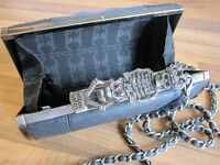 Religion Skeleton hard clutch bag