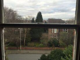 Oxton Village Nr. Birkenhead School. Superb huge 1 bedroom sc penthouse duplex flat with GCH