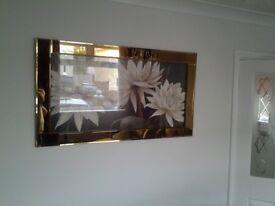 One copper edge mirror picture