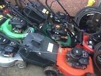 Joblot of petrol lawnmowers