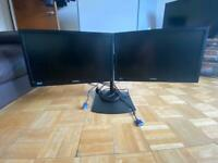 Samsung SyncMaster SA200 Dual Double Monitors + stand hardly used