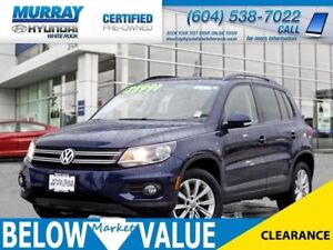 2015 Volkswagen Tiguan Comfortline 4-Motion**Heated Seats**Sunro
