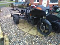 MOTORCYCLE TRIKE PROJECT WITH TRIKE V5. RELIANT REAR, HONDA FRONT