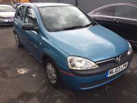 12 Months MOT Vauxhall Corsa 1.2 Club Petrol 5 Door Blue Manual