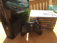 Xbox 360 E + Controller + 8 Games!