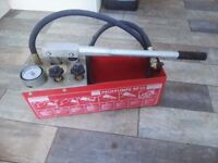 Manual Water Pressure Test Pump (RP50 Rothenberger)
