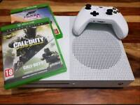 Xbox one S, with 2 games and original box