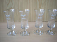 Four Vintage Pony Schooner Glasses