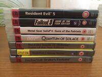 PS3 game bundle X7