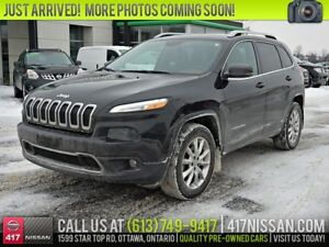 2015 Jeep Cherokee Limited 4WD   Leather, Panoramic Moonroof