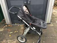 Black Little Devils Pushchair and pram in Used good condition