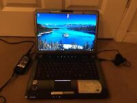 Toshiba laptop, intel Dual Core Processor, 3 gb RAM, 160 HDD, can deliver