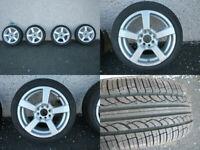 4 New Fox racing alloy wheels set & New tyres 175/50 R15